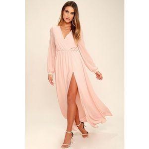 Lulus blush maxi dress